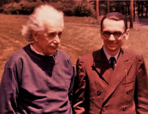 Kurt Godel with Albert Einstein
