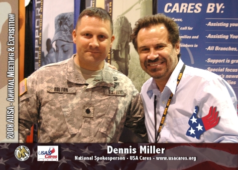 LTC Davy Bolton with Dennis Miller about a year before the onset of ALS