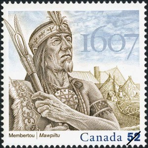 Henri Membertou on Canadian stamp