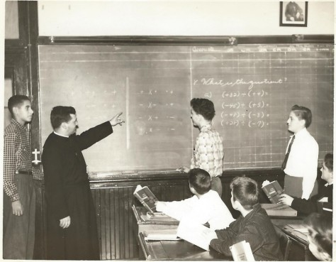 Brother Donald teaching Mathematics (January 1954)